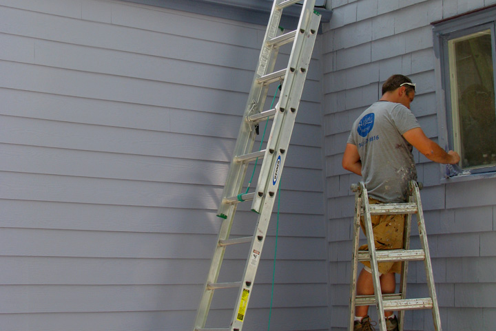 Painting a grey exterior